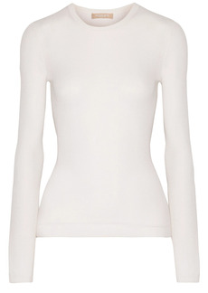 Michael Kors Collection Woman Ribbed Cashmere Sweater White