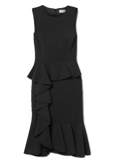Michael Kors Collection Woman Ruffled Stretch-cady Dress Black