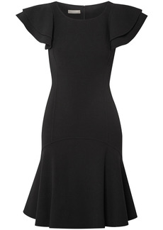 Michael Kors Collection Woman Ruffled Wool-blend Dress Black