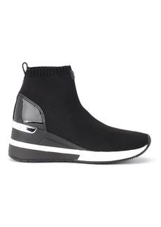 Michael Kors Skyler Ankle Boot In Black Technical Fabric