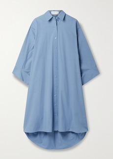 Michael Kors Oversized Washed Cotton-poplin Shirt Dress