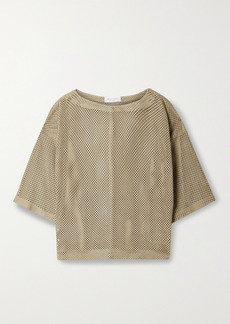 Michael Kors Perforated Suede Top