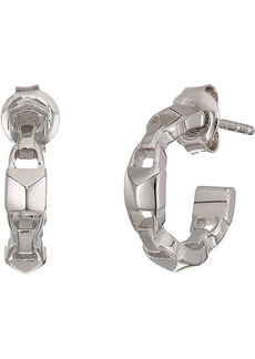 Michael Kors Precious Metal-Plated Sterling Silver Mercer Link Mini Hoops Earrings