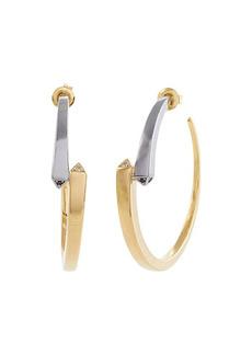 Michael Kors Precious Metal-Plated Sterling Silver Pavé Hoop Earrings