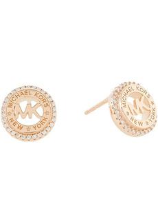 Michael Kors Sterling Silver Dainty Logo Stud Earrings
