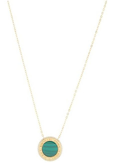 Michael Kors Sterling Silver Focal Stone Pendant Necklace