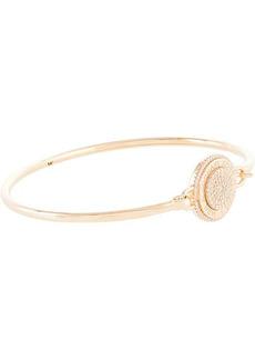 Michael Kors Sterling Silver Pavé Focal Flexi Bracelet