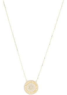 Michael Kors Sterling Silver Pavé Focal Pendant Necklace