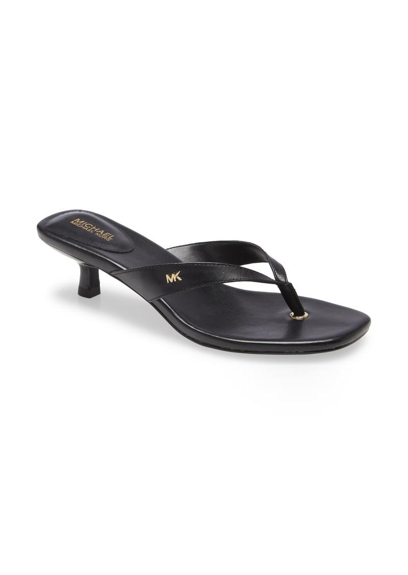 MICHAEL Michael Kors Angela Kitten Heel Flip Flop (Women)