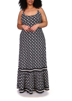 MICHAEL Michael Kors Border Print Maxi Dress (Plus Size)