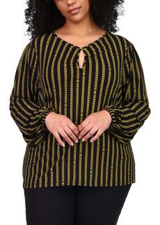 MICHAEL Michael Kors Chain Print Blouse (Plus Size)