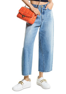 MICHAEL Michael Kors Cropped Wide Leg Jeans in Vintage Classic Wash