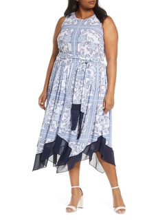 MICHAEL Michael Kors Handkerchief Hem Dress (Plus Size)