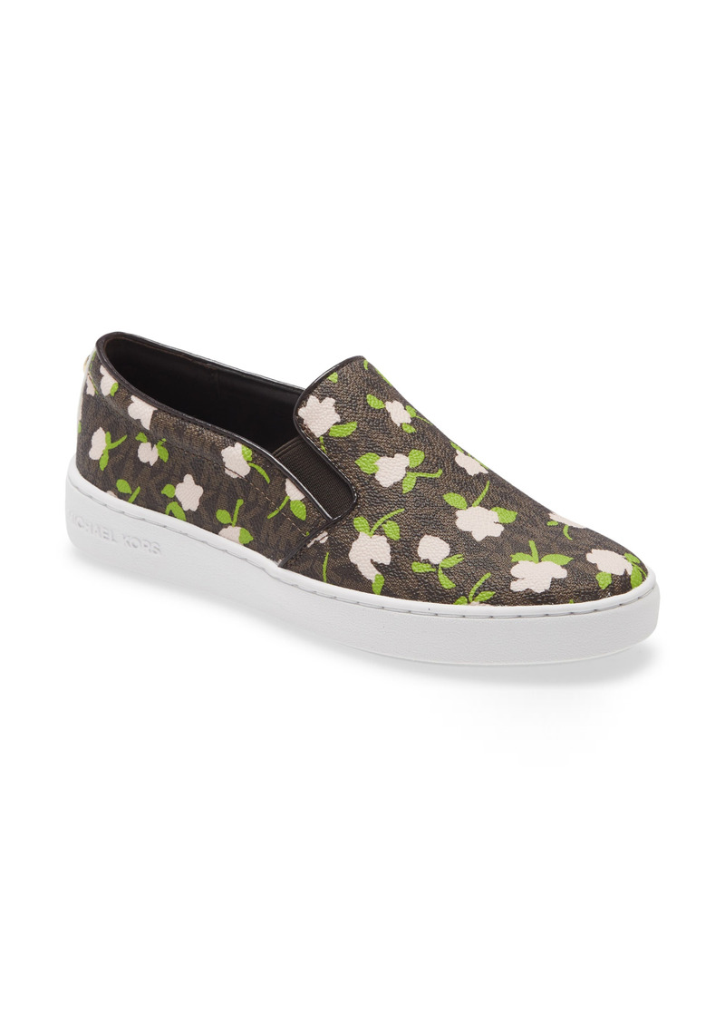 MICHAEL Michael Kors Keaton Floral Slip-On Sneaker (Women)