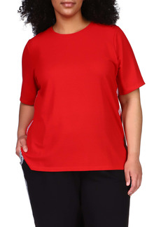 MICHAEL Michael Kors Logo Tape Thermal T-Shirt (Plus Size)