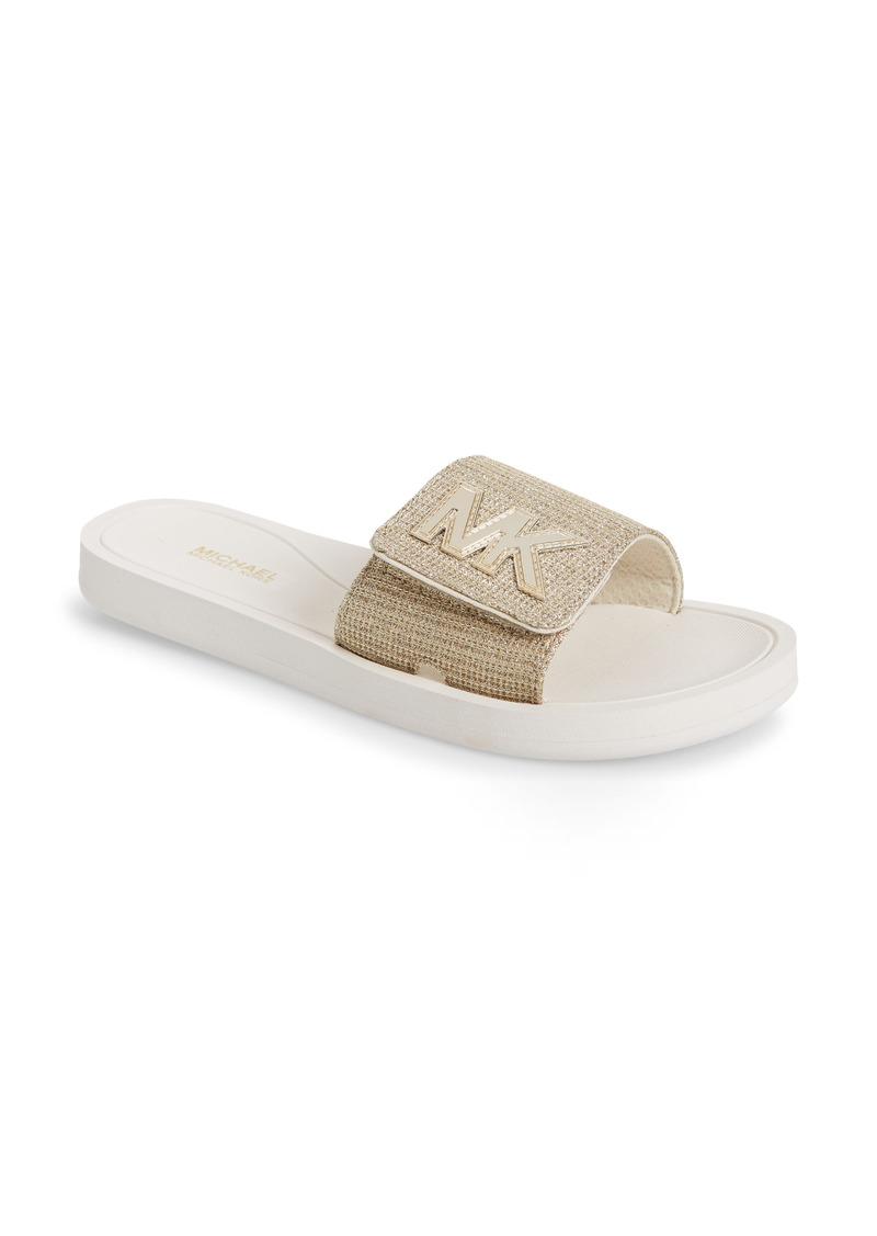 MICHAEL Michael Kors MK Logo Slide Sandal (Women)