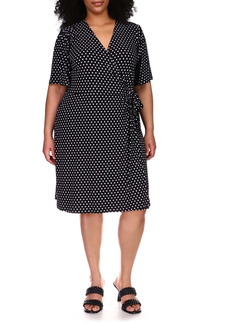 MICHAEL Michael Kors Polka Dot Faux Wrap Dress