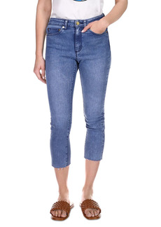 MICHAEL Michael Kors Skinny Cropped Raw Hem Jeans in Vintage Wash