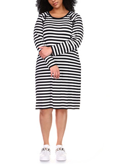 MICHAEL Michael Kors Striped Dress (Plus Size)