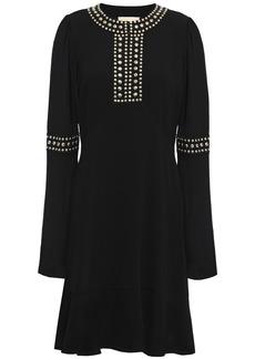 Michael Michael Kors Woman Studded Crepe Dress Black