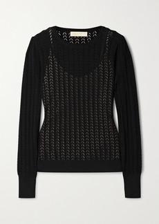 MICHAEL Michael Kors Pointelle-knit Sweater