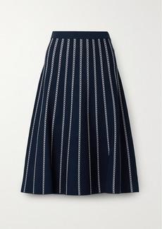 MICHAEL Michael Kors Striped Jacquard-knit Midi Skirt