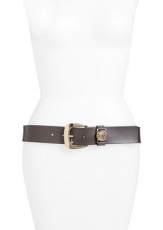 Women's Michael Michael Kors Calfskin Leather Belt
