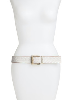 Women's Michael Michael Kors Reversible Logo Belt