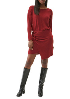 Michael Stars Hally Faux Wrap Long Sleeve Dress