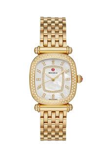 Michele Caber Isle 18K Yellow Gold & Diamond Bracelet Watch
