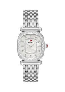 Michele Caber Isle Caber Stainless Steel & Diamond Bracelet Watch
