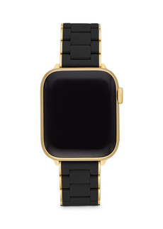 MICHELE Apple Watch� Black Silicone with Gold-Tone Wrapped Interchangeable Bracelet, 38-42mm