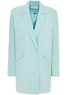 Michelle Mason Woman Double-breasted Cotton-blend Jacquard Mini Dress Mint