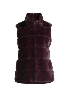 Milly Kira Striped Faux Fur Vest