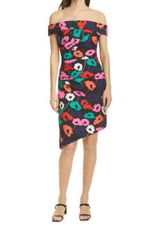 Milly Ally Floral Asymetrical Hem Dress