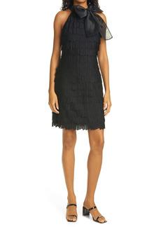 Milly Gwyneth Fringe Embellished Sleeveless Dress