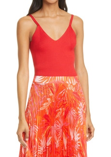 Milly V-Neck Ribbed Camisole