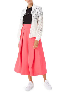 Milly Pleat-Front Culottes