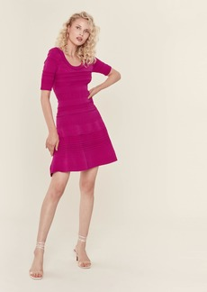 Milly Textured Tech Flare Dress - L