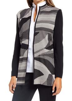 Ming Wang Abstract Pattern Knit Jacket