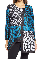 Ming Wang Animal Print Asymmetrical Jacket