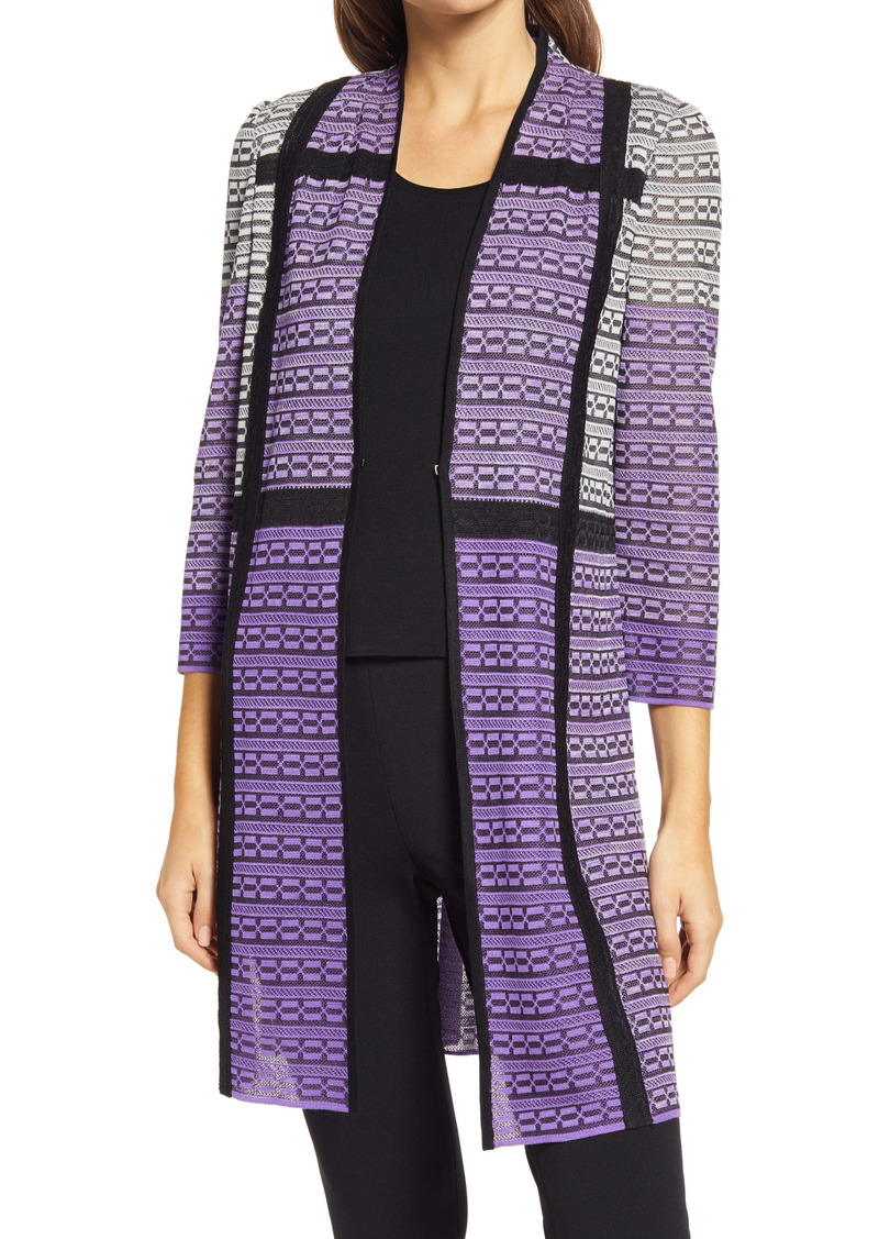Ming Wang Colorblock Knit Jacket