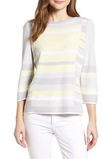 Ming Wang Colorblock Sweater