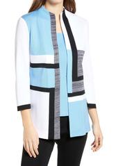Ming Wang Colorblock Sweater Jacket