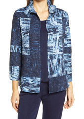 Ming Wang Crinkle Texture Jacket