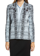 Ming Wang Embellished & Embroidered Jacquard Jacket