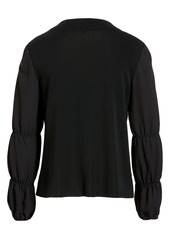Ming Wang Front Zip Knit Jacket