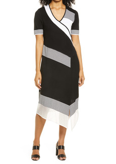 Ming Wang Handkerchief Hem Dress