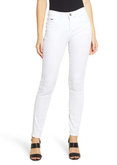 Ming Wang High Waist Skinny Jeans