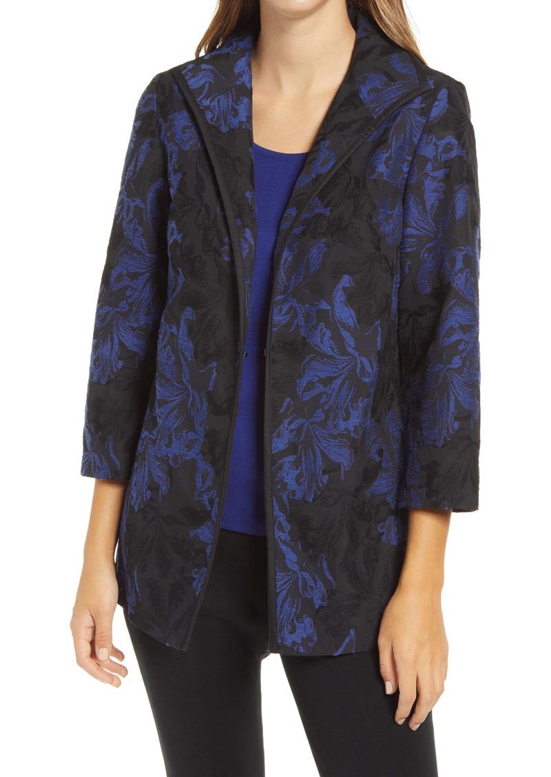 Ming Wang Jacquard Brocade Jacket